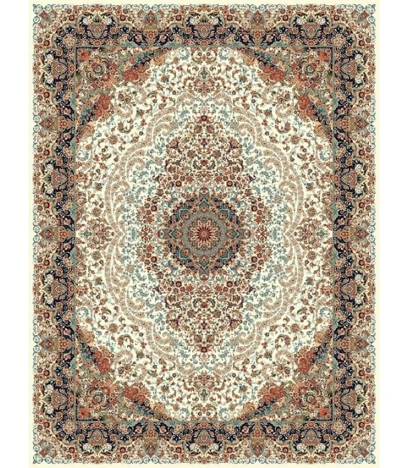فرش ماشینی نگین مشهد طرح 1206 کرم