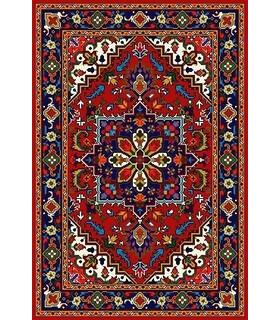 نخ و نقشه فرش درشت باف کد 28
