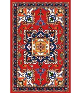 نخ و نقشه فرش درشت باف کد 30