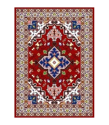 نخ و نقشه فرش درشت باف کد 31
