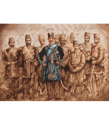 نخ و نقشه تابلو فرش ایرانی کد-28 شاه قاجار