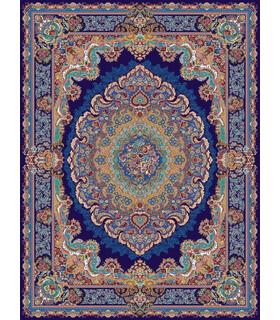 فرش مشهد طرح 708009 سورمه ای