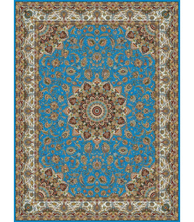 فرش مشهد طرح 802015 آبی