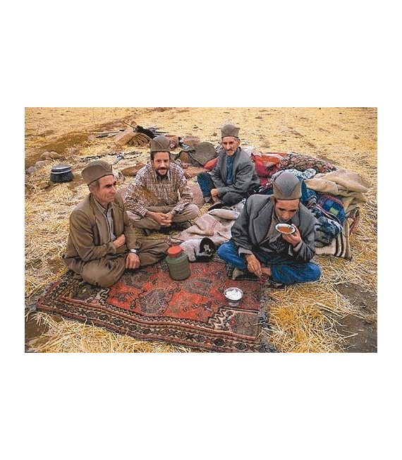 نخ و نقشه تابلو فرش ایرانی کد-33 مردان عشایر