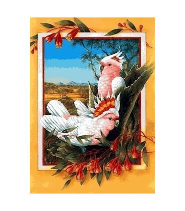 نخ و نقشه تابلو فرش طرح پری شاهرخ طلائی