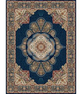 فرش قالی سلیمان طرح خورشید آبی