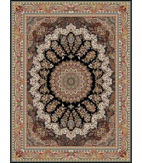 فرش قالی سلیمان طرح زنبق مشکی