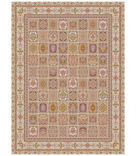 فرش قالی سلیمان طرح ماهرنگ کرم