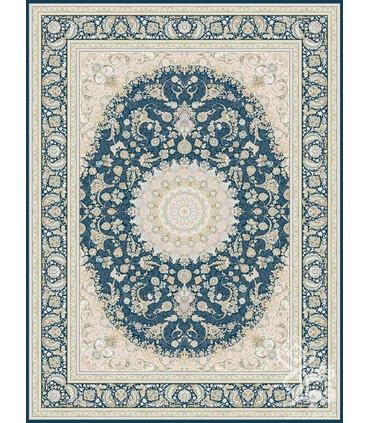 فرش ماشینی قیطران طرح بهناز سورمه ای
