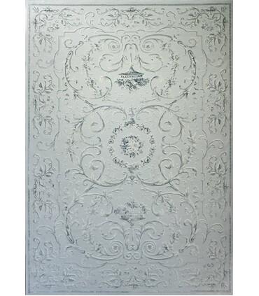 فرش ماشینی زمرد مشهد طرح 1904 آبی