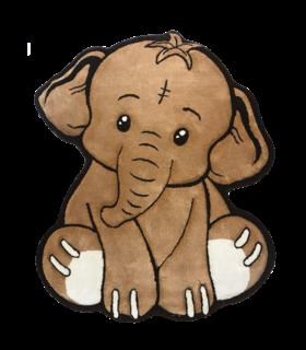 فرش کودک زرباف طرح فیل شکلاتی 100*80