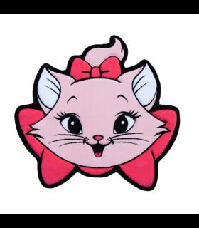 فرش کودک زرباف طرح گربه اشرافی صورتى 100*95