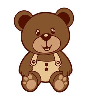 فرش کودک زرباف طرح خرس شکلاتی 100*75