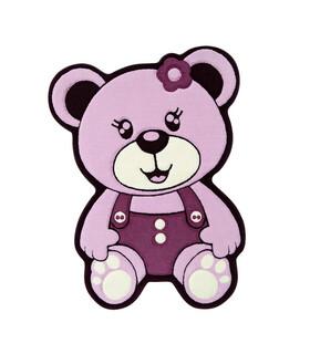فرش کودک زرباف طرح خرس بنفش 100*75
