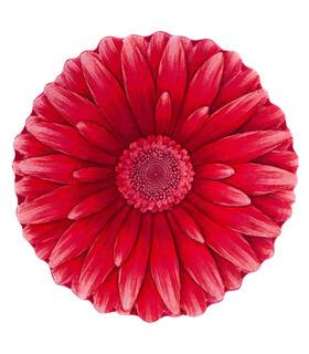 فرش سه بعدی زرباف طرح گل داوودی قرمز 100*100