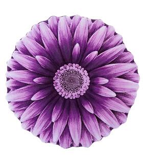 فرش سه بعدی زرباف طرح گل داوودی یاسی 100*100