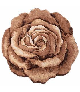 فرش سه بعدی زرباف طرح گل رز شکلاتی 100*100