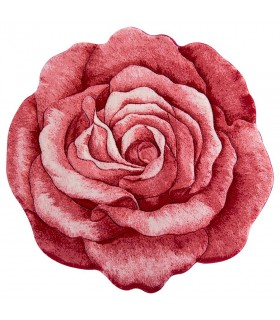فرش سه بعدی زرباف طرح گل رز قرمز 100*100
