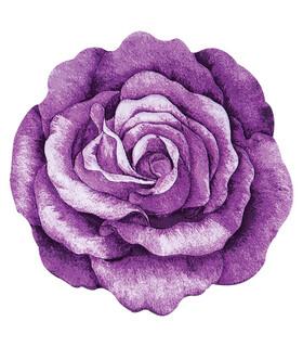 فرش سه بعدی زرباف طرح گل رز یاسی 100*100