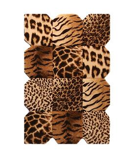 فرش سه بعدی زرباف طرح پوستی شكلاتى 150*100