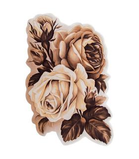 فرش سه بعدی زرباف طرح ارغوان شكلاتى 150*100