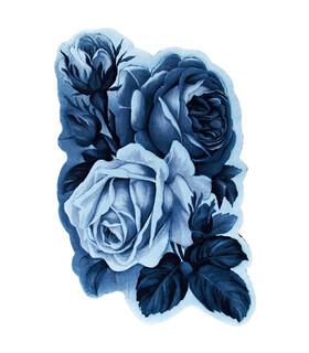 فرش سه بعدی زرباف طرح ارغوان آبی 150*100