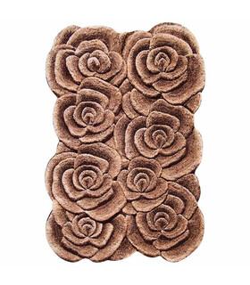 فرش سه بعدی زرباف طرح گلستان شكلاتى 150*100