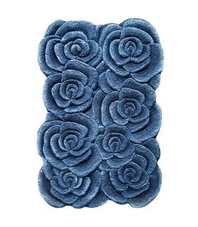 فرش سه بعدی زرباف طرح گلستان آبی 150*100