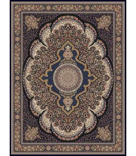 فرش ماشینی زمرد مشهد طرح 18138 سورمه ای