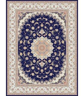 فرش ماشینی مشهد طرح 722206 سورمه ای
