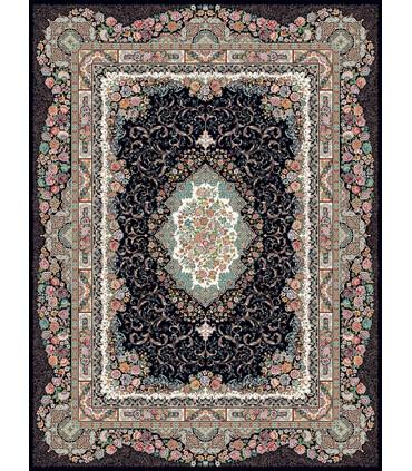 فرش ماشینی زمرد مشهد طرح 36014 سورمه ای