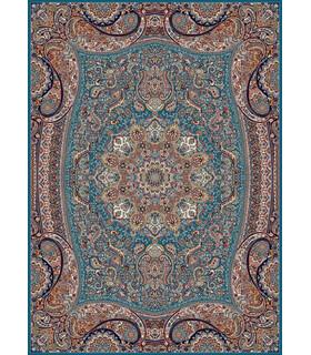 فرش زمرد مشهد طرح 18122 آبی