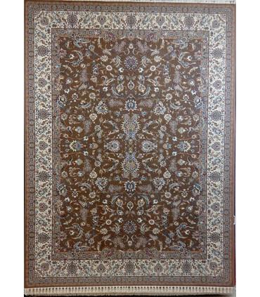 فرش ماشینی زمرد مشهد طرح 14009 گردویی