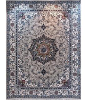 فرش ماشینی نگین مشهد طرح 1214 کرم
