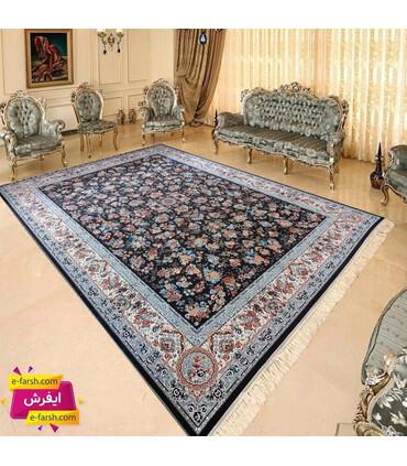 فرش ماشینی پرشین مشهد طرح 36014 طوسی گل برجسته