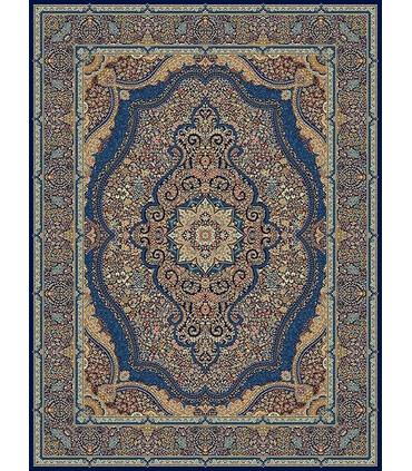 فرش مشهد طرح 872120 سورمه ای