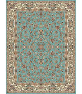 فرش مشهد طرح 87149 آبی
