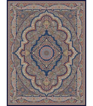 فرش ماشینی مشهد طرح 722008 سورمه ای