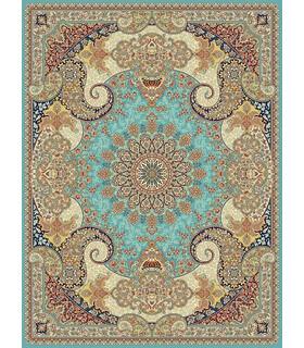 فرش مشهد طرح 85124 آبی