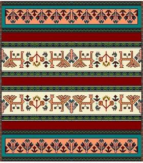 نخ و نقشه فرش درشت باف کد 13
