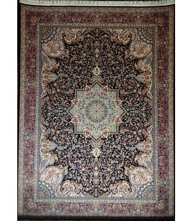 فرش زمرد مشهد طرح 36000 سورمه ای