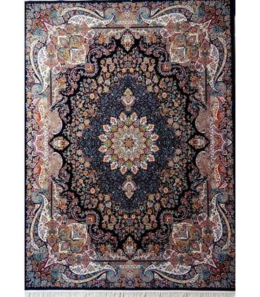 فرش ماشینی پرشین مشهد طرح 25015 سورمه ای