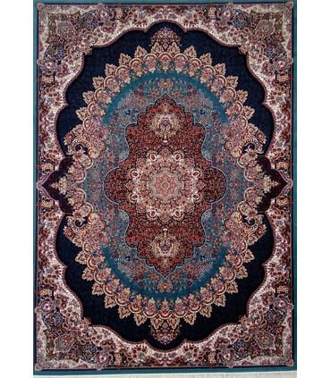 فرش ماشینی زمرد مشهد طرح 18130آبی
