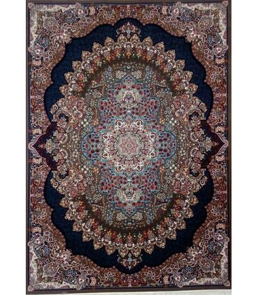 فرش ماشینی زمرد مشهد طرح 18130گردویی
