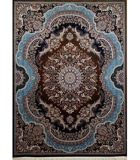 فرش زمرد مشهد طرح 25014 گردویی