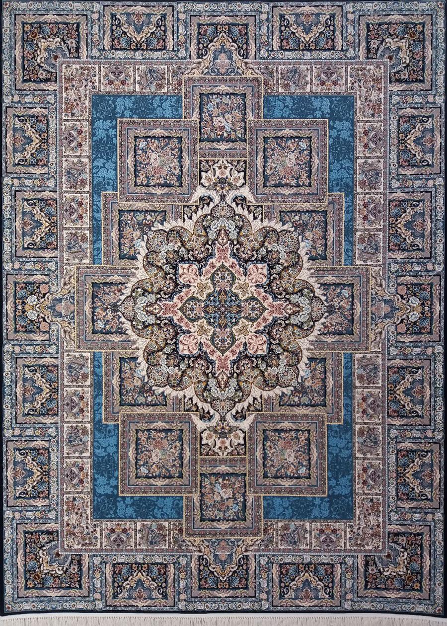 فرش زمرد مشهد طرح 22000 سورمه ای