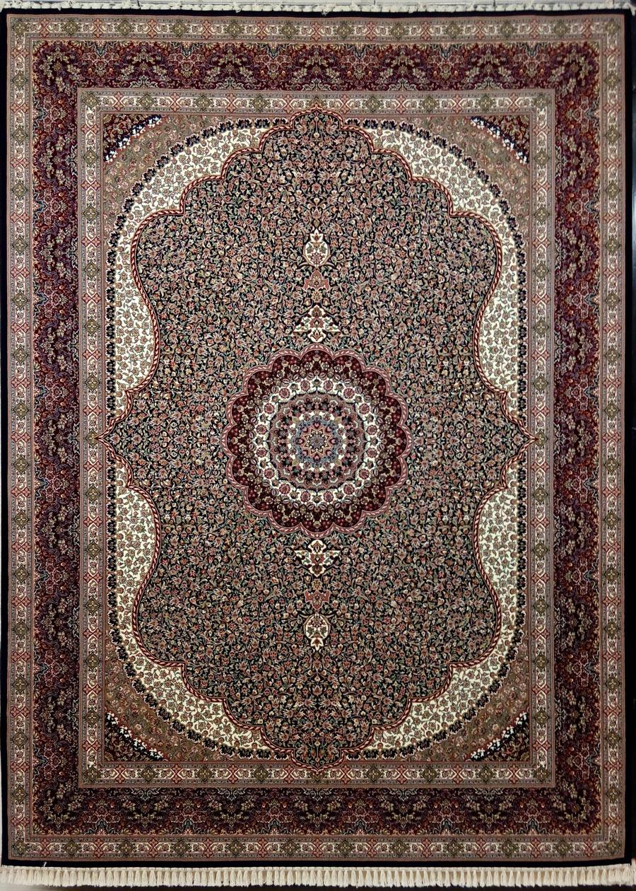 فرش زمرد مشهد طرح 14010 سورمه ای