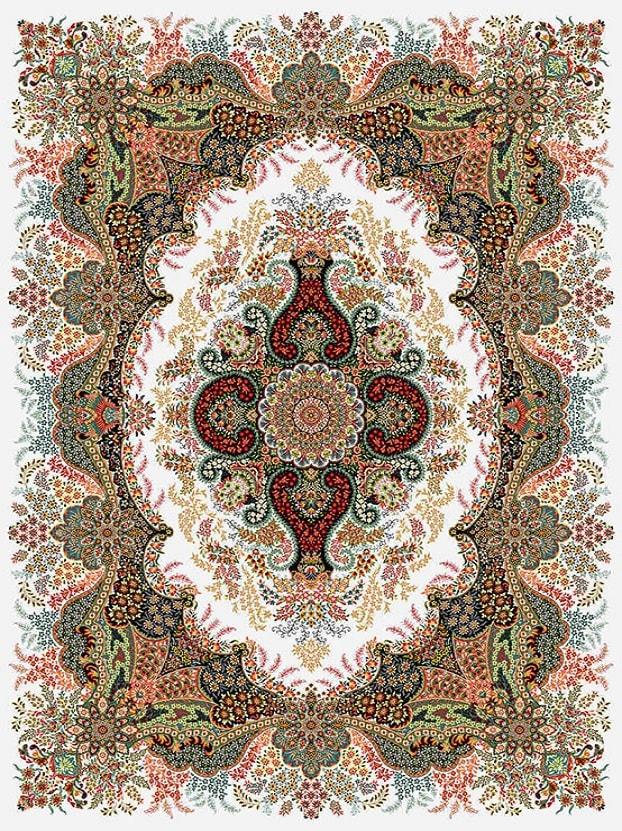 فرش طرح گلدانی