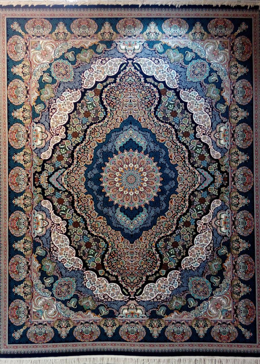 فرش پرشین مشهد طرح 25010 سورمه ای