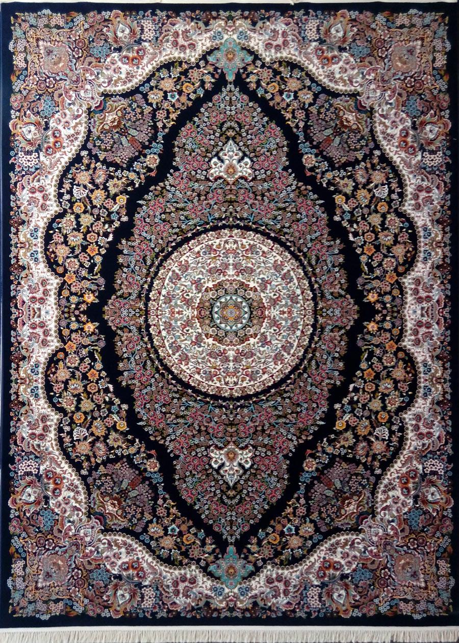 فرش پرشین مشهد طرح 25013 سورمه ای